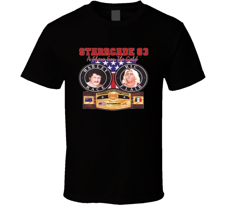 Ric Flair Vs Harley Race 1983 Starcade Wrestling T Shirt
