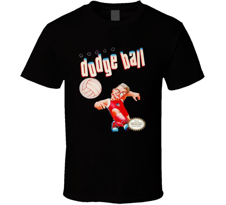 Super Dodge Ball Retro Nes Video Game Box Art T Shirt