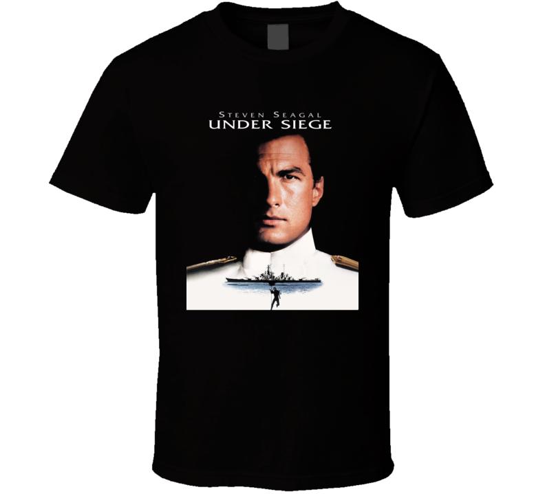 Under Siege Steven Segal Retro Action Movie T Shirt