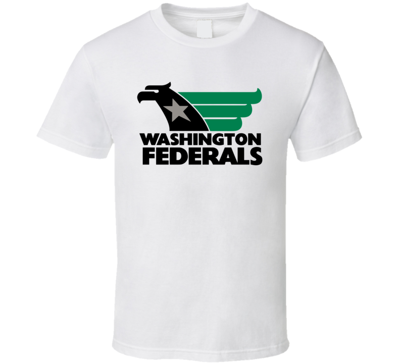 Washington Federals Usfl Retro 80's Football T Shirt