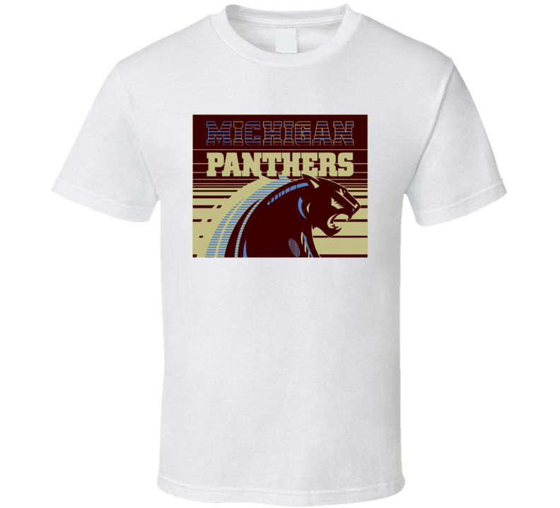 Michigan Panthers Usfl Retro 80's Football T Shirt