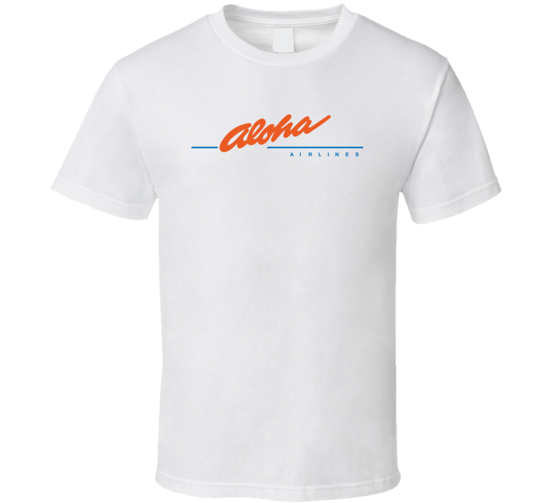 Aloha Airlines Retro Defunct Airline T Shirt