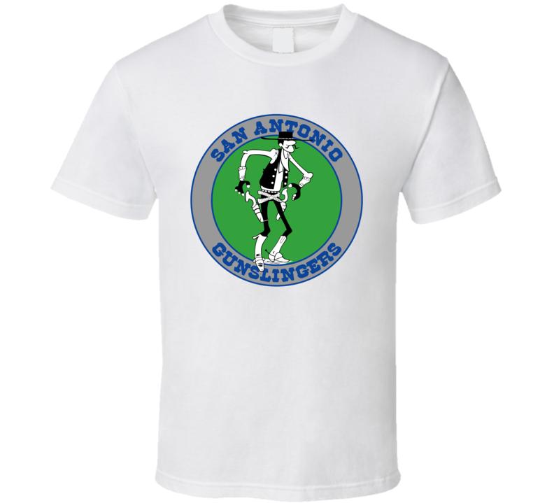 San Antonio Gunslingers Usfl Retro 80's Football T Shirt