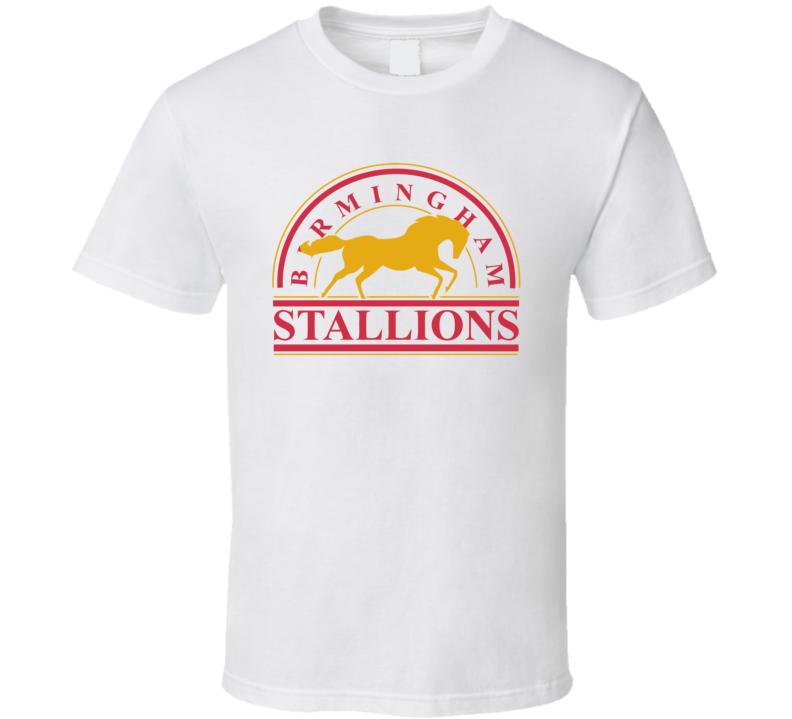 Birmingham Stallions Usfl Retro 80's Football T Shirt