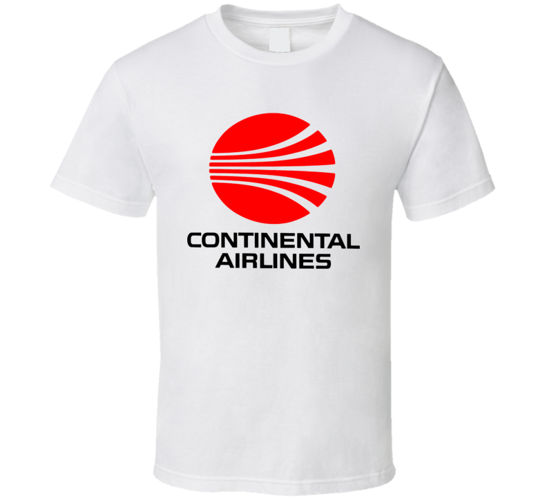 Continental Airlines Retro Defunct Airline T Shirt