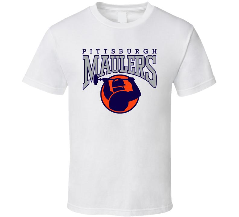 Pittsburgh Maulers Retro Usfl 80's Football T Shirt