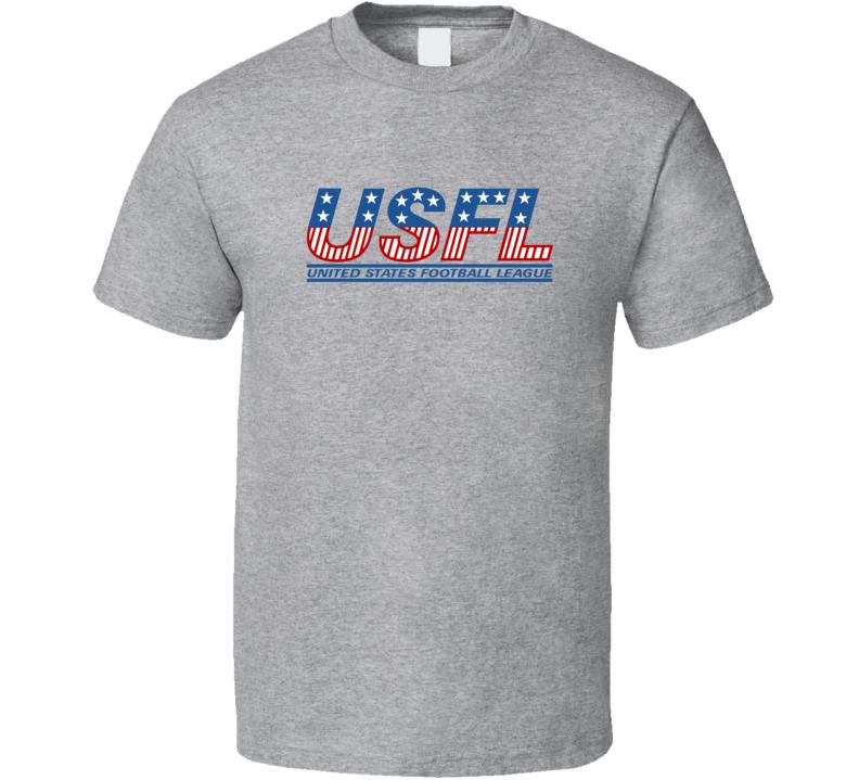Usfl Retro Football League Logo T Shirt