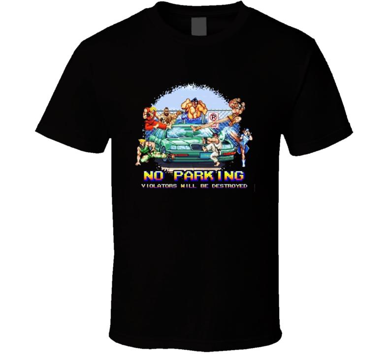 Street Fighter Ryu Ken Parking Car Bonus Level Funny T Shirt