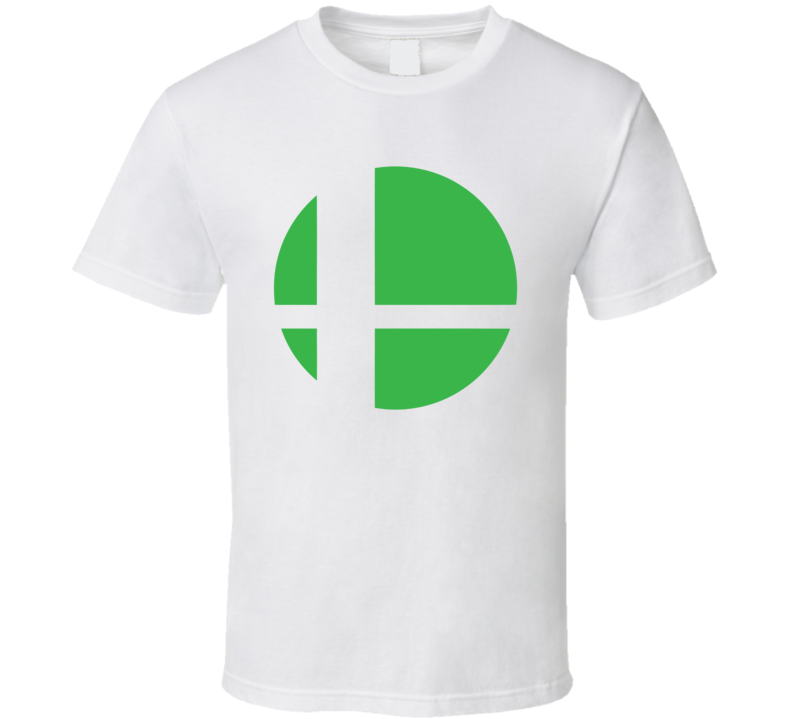 Super Smash Bros Logo Green Gaming  Video Game T Shirt