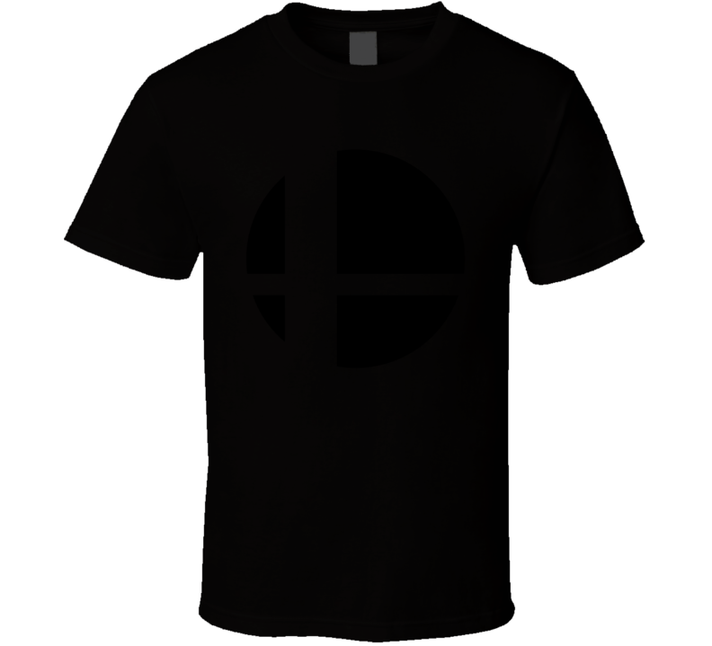 Super Smash Bros Logo Black Gaming  Video Game T Shirt