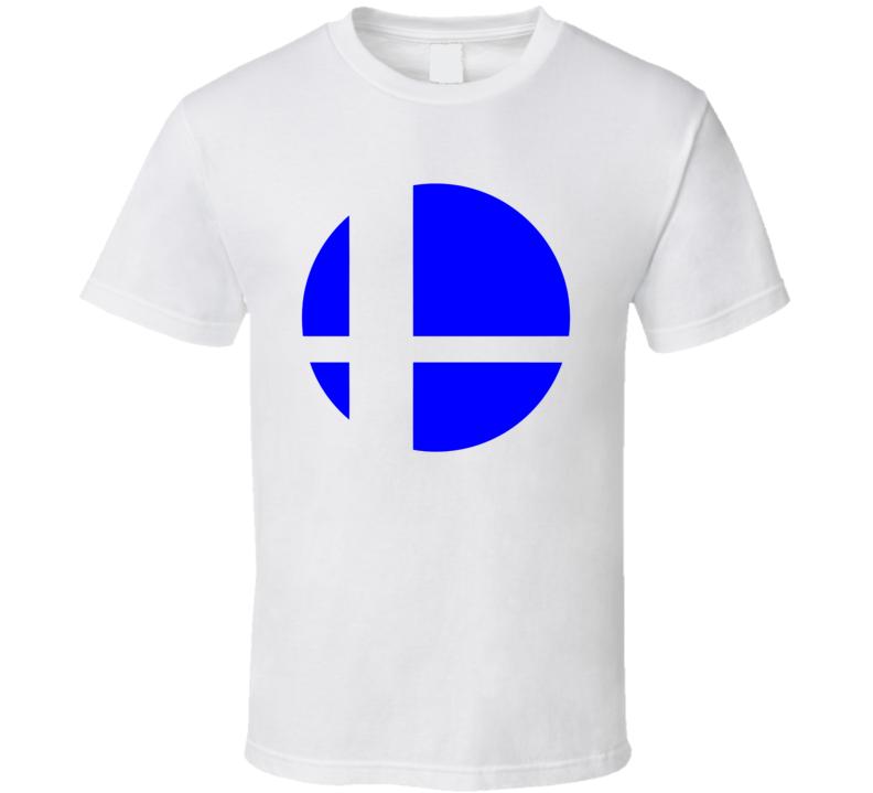 Super Smash Bros Logo Blue Gaming  Video Game T Shirt
