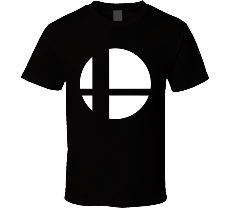 Super Smash Bros Logo White Gaming  Video Game T Shirt