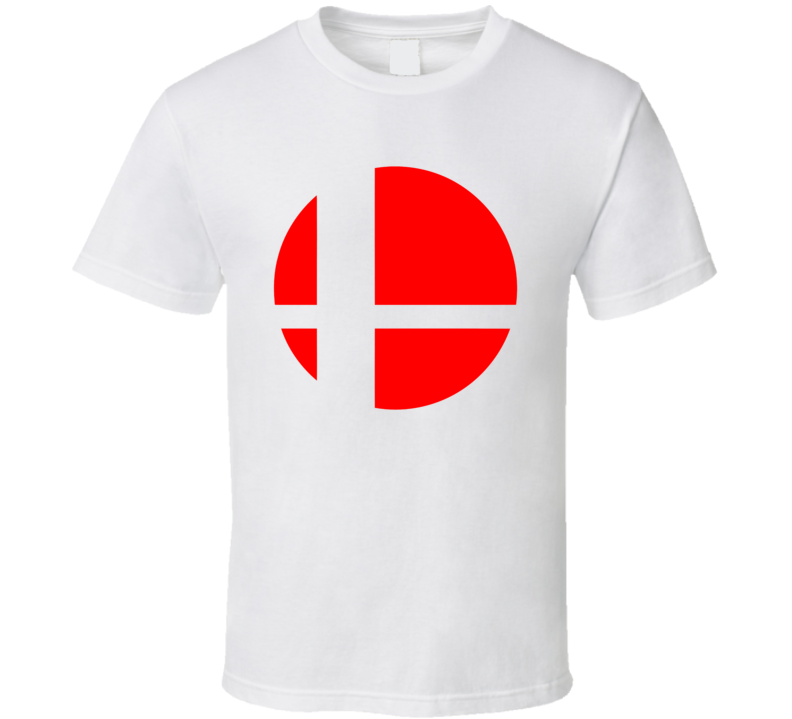 Super Smash Bros Logo Red Gaming  Video Game T Shirt