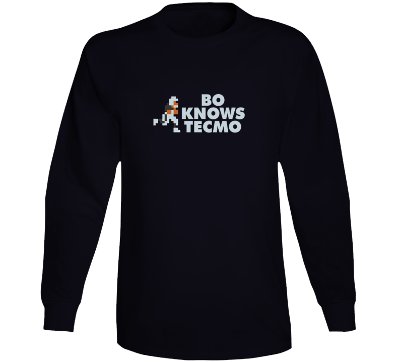Bo Knows Tecmo Retro Football Video Game Long Sleeve T Shirt