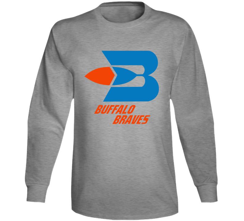 Buffalo Braves Retro Baseketball Team Logo Long Sleeve T Shirt