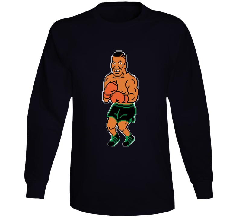 Mike Tyson's Punchout 8 Bit Boxing Video Game Long Sleeve T Shirt