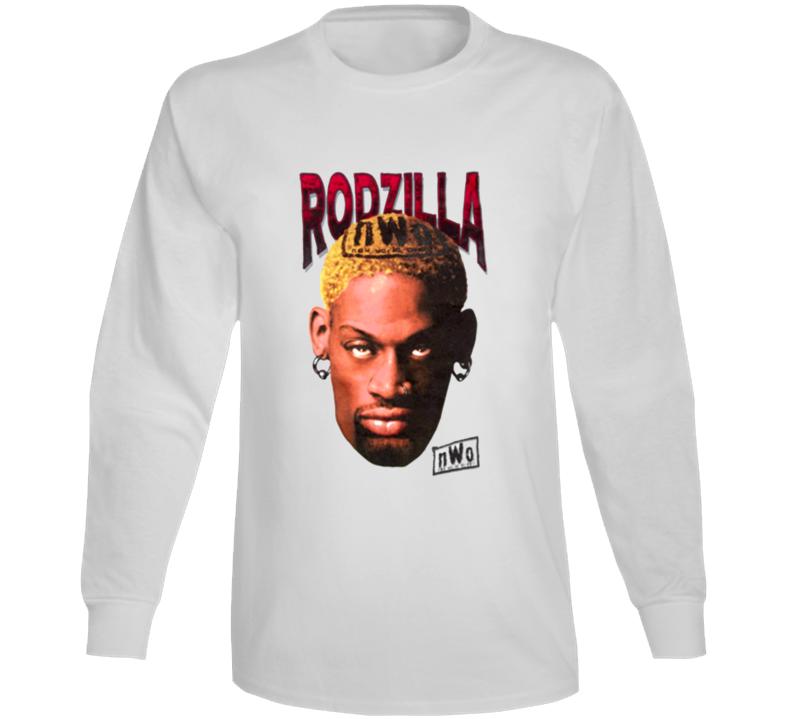 Dennis Rodman Rodzilla Wcw Retro Wrestling Long Sleeve T Shirt