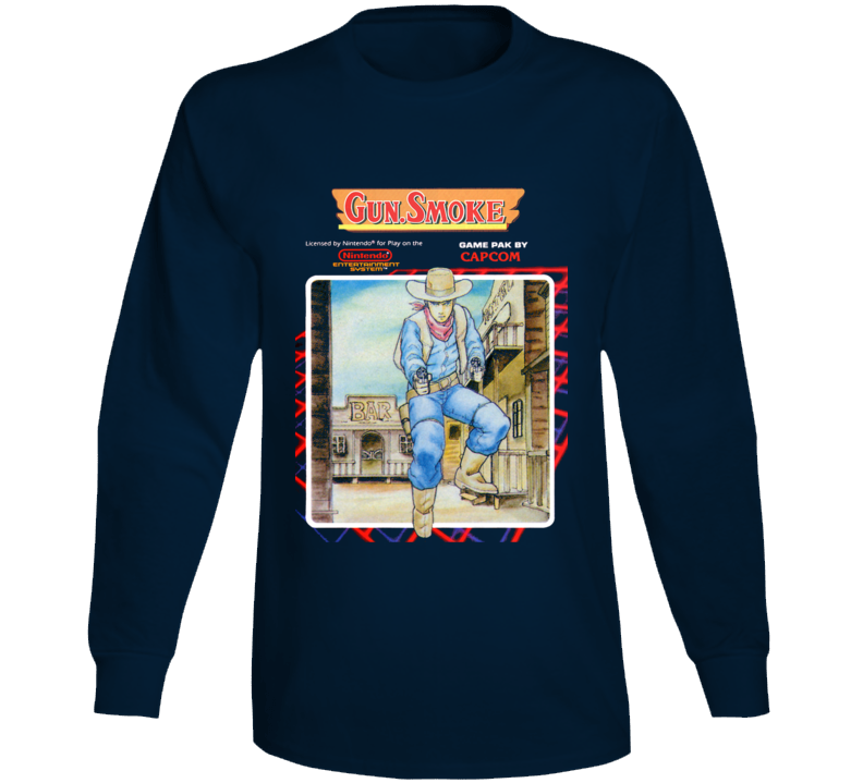 Gunsmoke Nes Retro Video Game Long Sleeve T Shirt