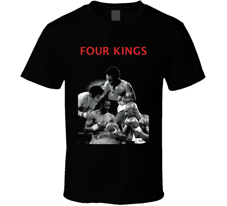 Four Kings Duran Hagler Leonard Hearns Boxing T Shirt