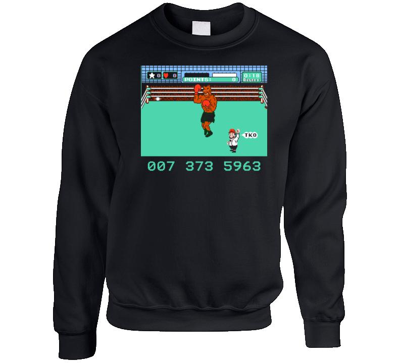 Mike Tyson's Punch Out Retro Nes Sweatshirt  T Shirt