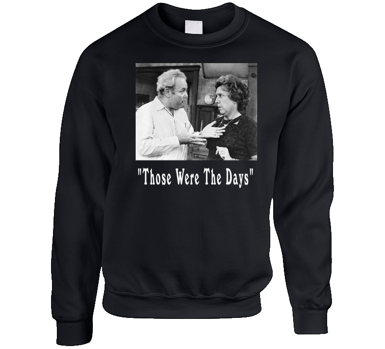 All In The Family Archie And Edith Bunker Crewneck Sweatshirt T Shirt