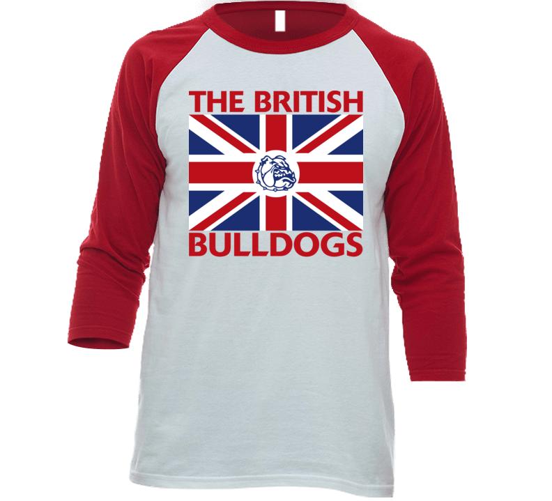 The British Bulldogs Retro Wrestling Baseball Raglan Shirt