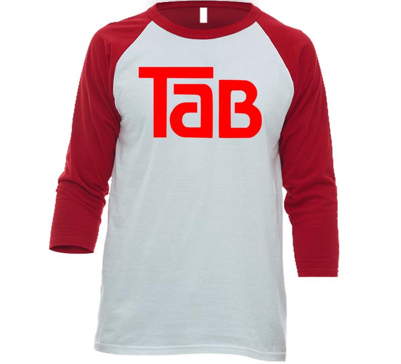 Tab Cola Retro Soft Drink Beverage Baseball Raglan T Shirt