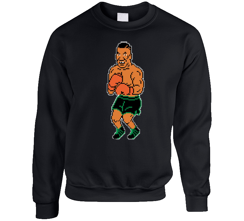 Mike Tyson's Punch-out 8 Bit Boxing Crewneck Sweatshirt T Shirt