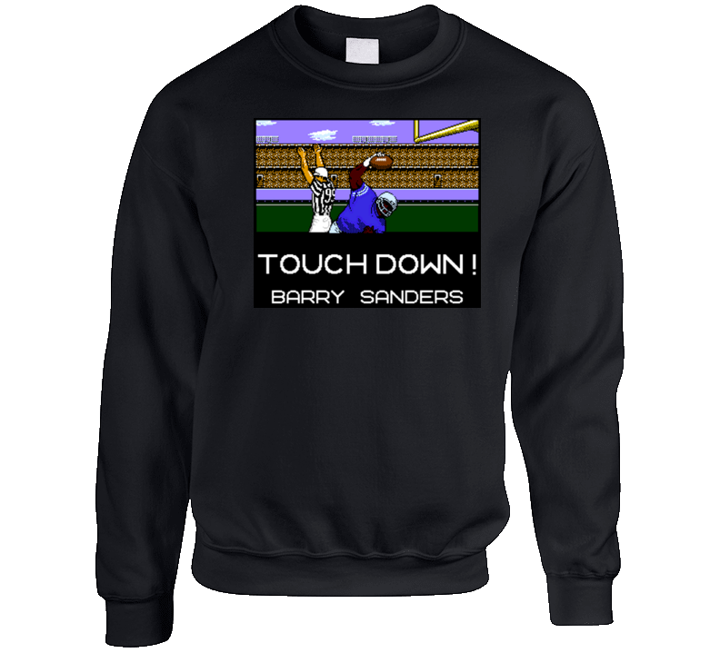 Tecmo Bowl Barry Sanders Touchdown Crewneck Sweatshirt T Shirt
