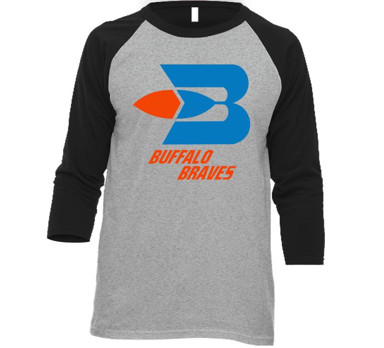 Buffalo Braves Retro 70's Basketball Baseball Raglan T Shirt