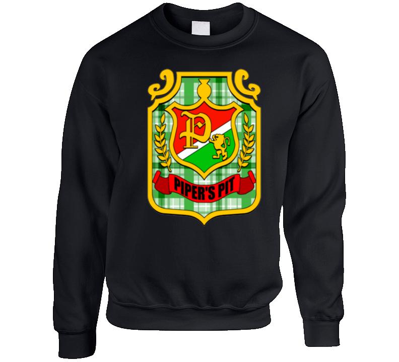 Rowdy Roddy Piper Pipers Pit Logo Crewneck Sweatshirt T Shirt