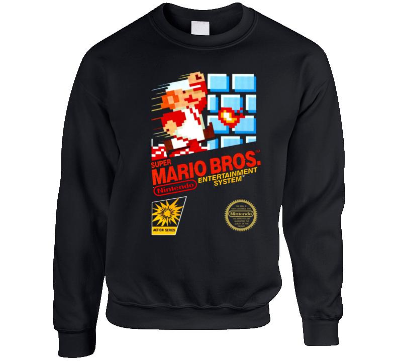 Super Mario Bros Retro Nes Crewneck Sweatshirt T Shirt