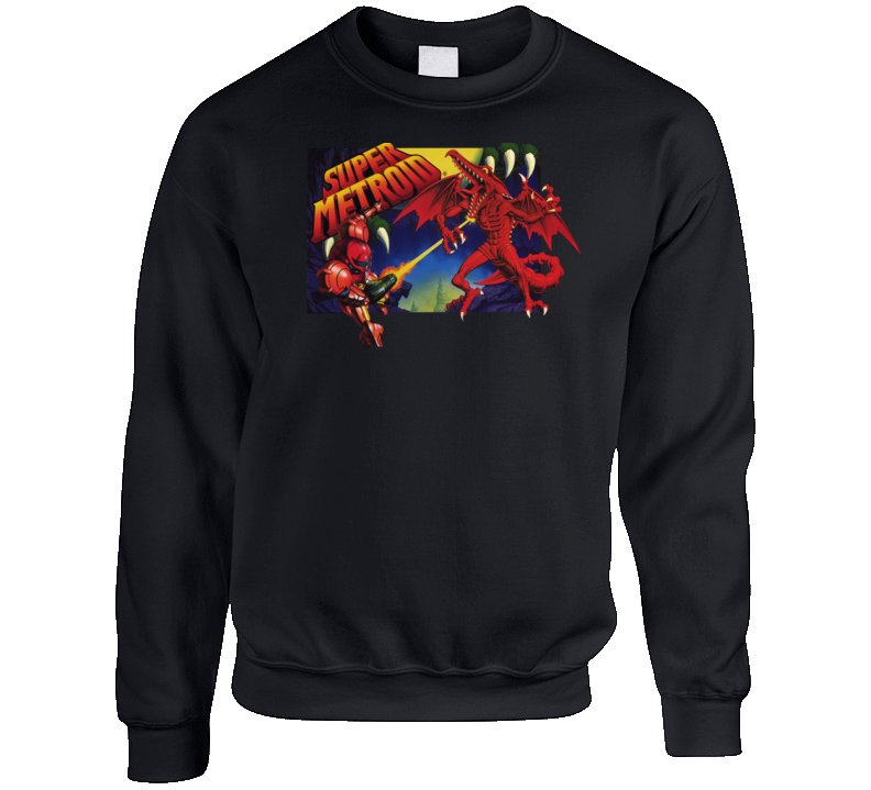 Super Metroid Snes Retro Crewneck Sweatshirt T Shirt