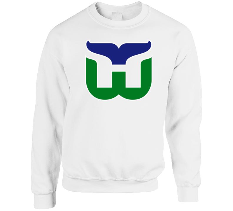 Hartford Whalers Retro Hockey White Crewneck Sweatshirt T Shirt