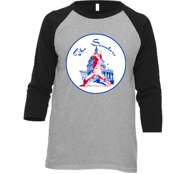 Washington Senators Retro Baseball Logo Baseball Raglan T Shirt