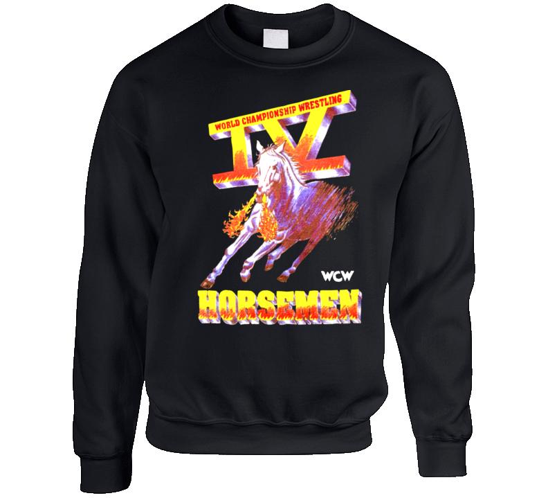 Four 4 Horsemen Retro Wcw Logo Crewneck Sweatshirt  T Shirt