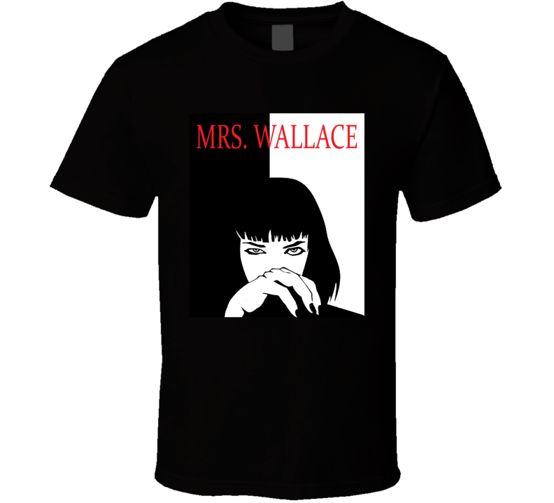 Mrs Mia Wallace Pulp Fiction Scarface Style Retro Movie T Shirt  T Shirt