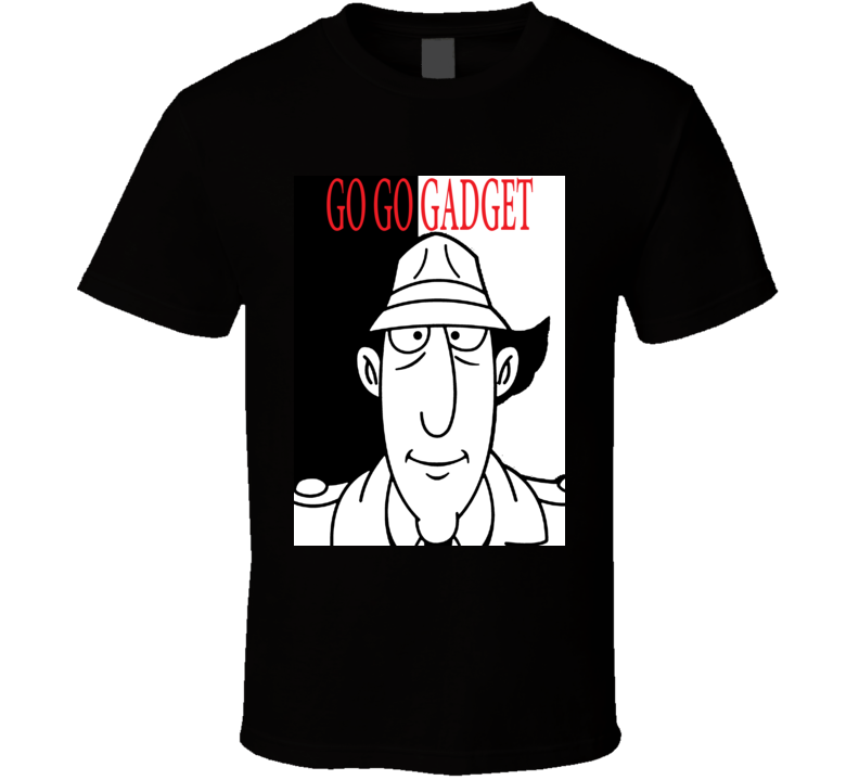 Inspector Gadget Scarface Style Retro Movie T Shirt  T Shirt