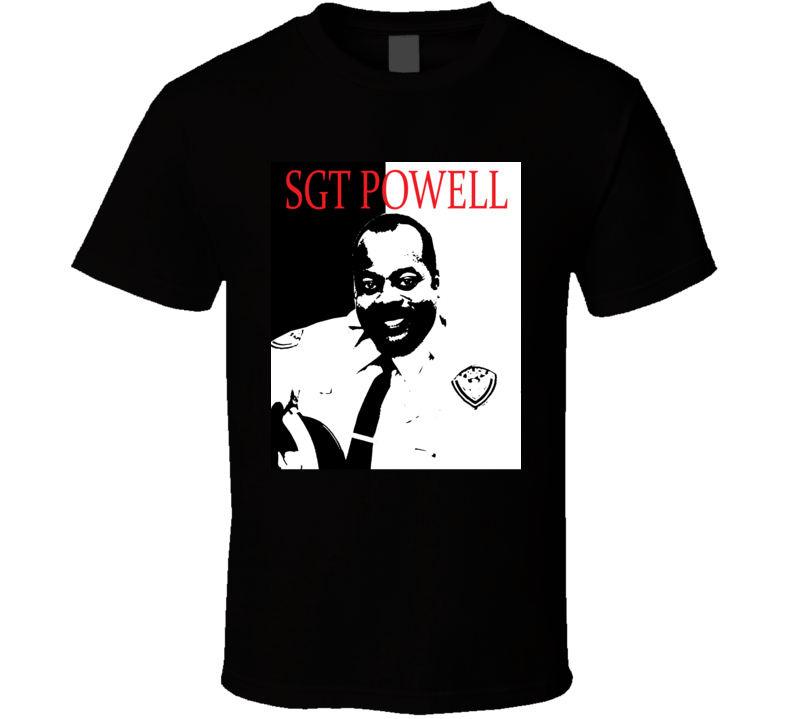 Die Hard Sgt Al Powell Scarface Style Retro Movie T Shirt  T Shirt