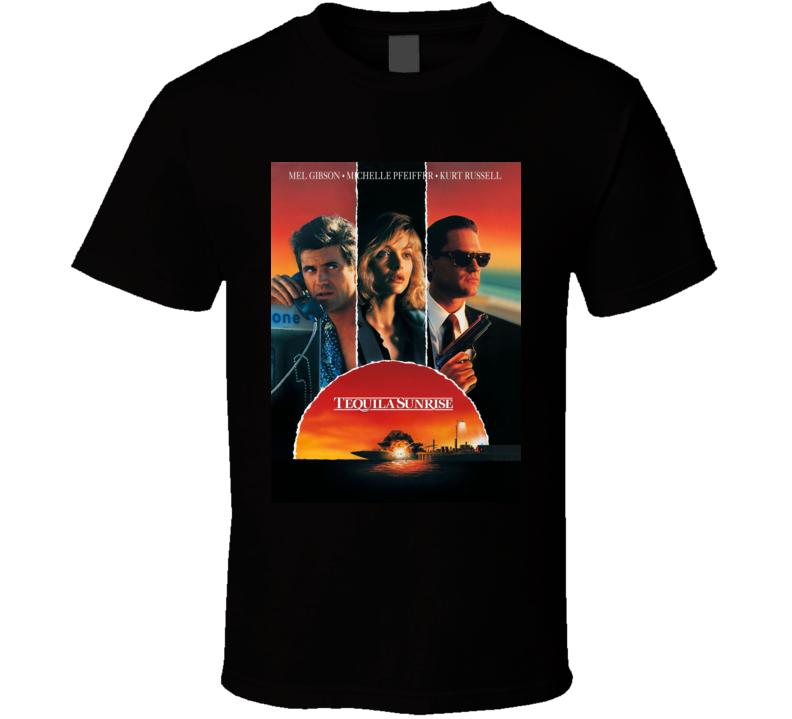 Tequila Sunrise Retro 80s Action Movie T Shirt
