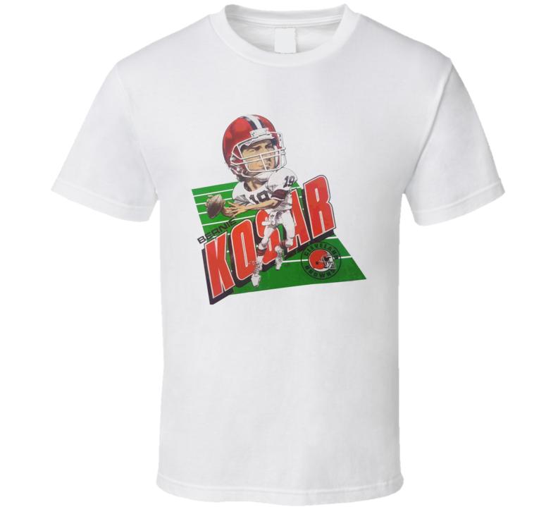 Bernie Kosar Cleveland Legend Football Caricature T Shirt