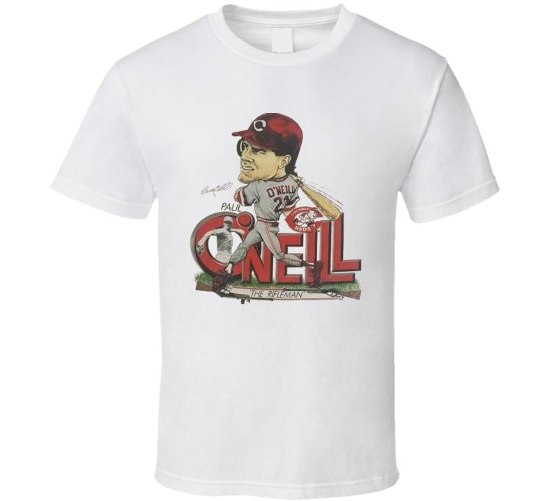Paul O'neill Retro Baseball Caricature T Shirt