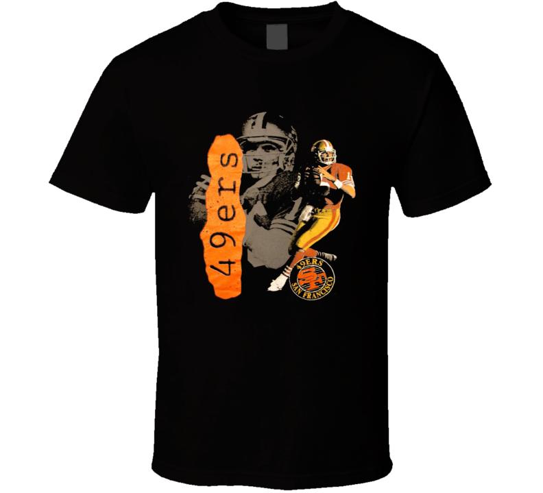 Joe Montana Retro San Francisco Football Legend T Shirt