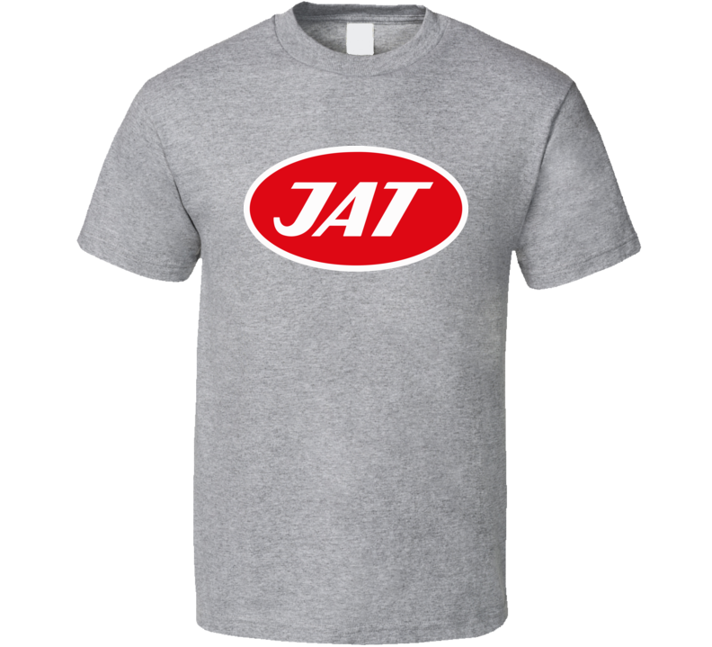 Jat Airlines Yugoslavia Defunct Airline Logo T Shirt