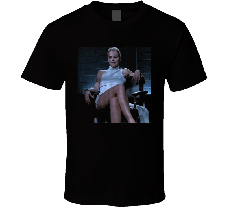 Sharon Stone Basic Instinct Legs Crossing T Shirt