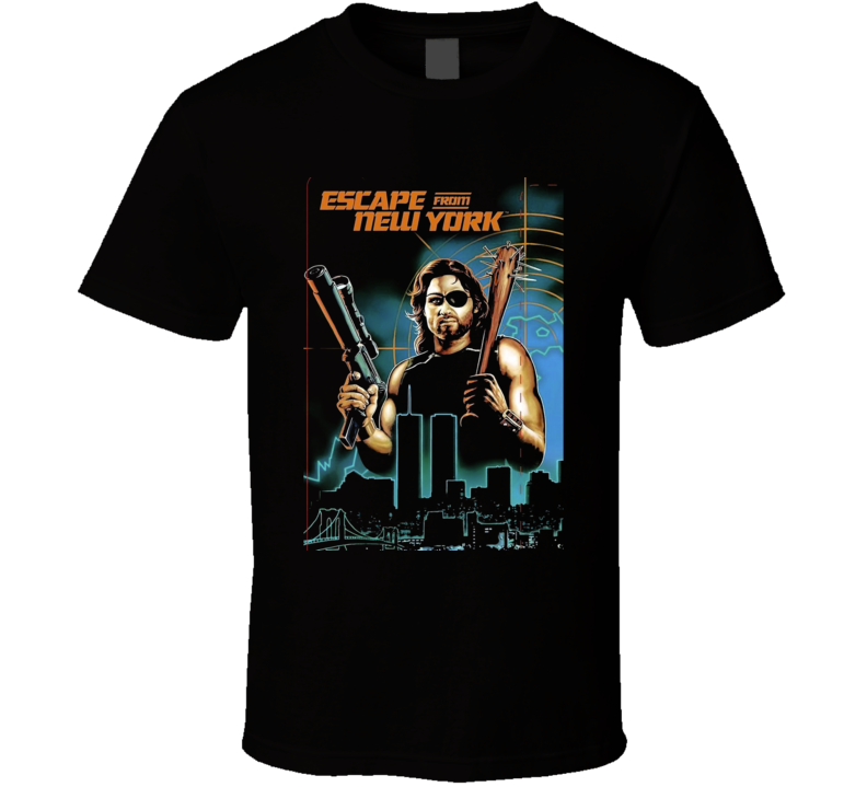 Escape From New York Snake 80's Action Movie T Shirt