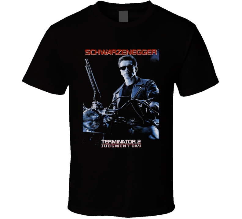 Terminator 2 Schwarzenegger 90's Retro Movie T Shirt