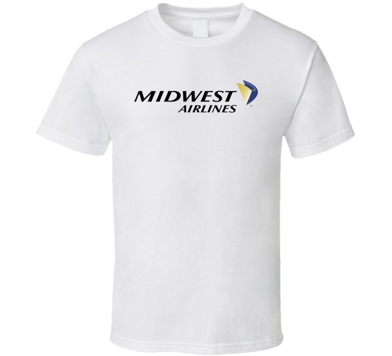 Midwest Airlines Defunct Airline Logo T Shirt