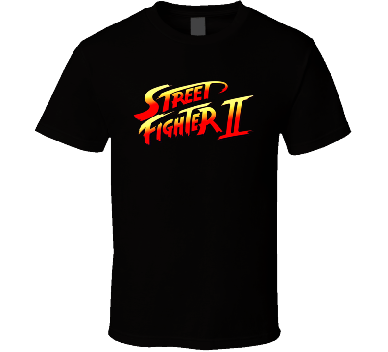 Street Fighter 2 Retro Video Game Logo T Shirt