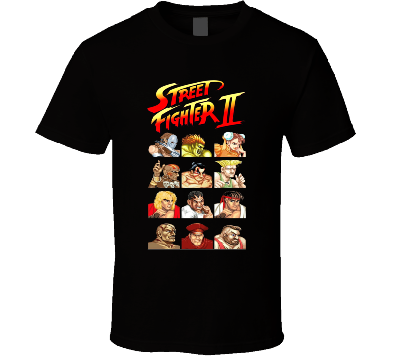 Street Fighter 2 Characters Cool Video Game Retro T Shirt